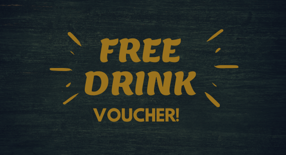Free drink with any purchase!