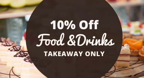10% Off Takeaway Food & Drinks