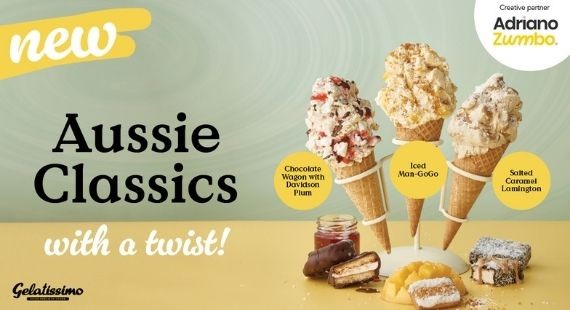 GELATISSIMO'S NEW AUSSIE CLASSICS WITH A TWIST RANGE