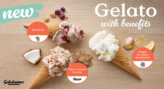 GELATISSIMO'S NEW GELATO WITH BENEFITS